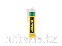 """Герметик STAYER """"MASTER"""" нейтральный силиконовый, белый, 260мл  41217-0_z01"""