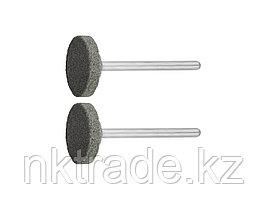 Круг ЗУБР абразивный шлифовальный из карбида кремния на шпильке, P 120, d 20x3,2мм, L 45мм, 2шт 35916