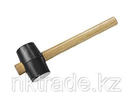 """Киянка ЗУБР """"МАСТЕР"""" резиновая черная с деревянной ручкой, 230г  2050-40_z01"""