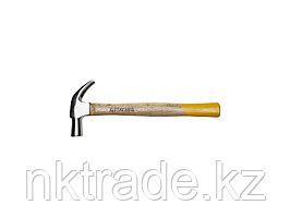 """Молоток-гвоздодер STAYER """"STANDARD"""" TopStrike кованый, с деревянной ручкой, 450г  20232_z01"""