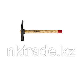Молоток-кирочка КАМЕНЩИКА 600г с деревянной рукояткой, ЗУБР Мастер 2015-06  2015-06_z01