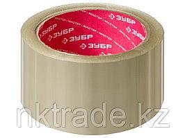 Клейкая лента, ЗУБР Мастер 12031-50, прозрачная, 48мм х 60м