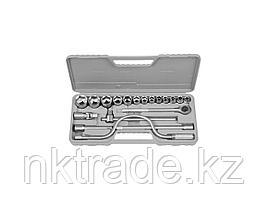 """Набор STAYER Автомобильный инструмент """"STANDARD"""" хромированное покрытие, 19 предметов 27585-H19"""