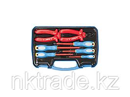 Набор: Губцевый инструмент, диэлектрический, высоковольтный до ~1000В, маслобензостойкая рукоятка, 7  2214-H7_z01