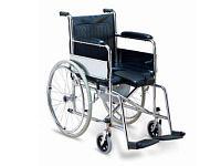 Коляска инвалидная SC8001A Стальная со стульчаком (сU- образной выемкой