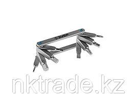 """Набор ЗУБР """"ЭКСПЕРТ"""": Ключи имбус, универс, складные, Cr-V, сатинированное покрытие, суперкомпактный, HEX, TORX, PH №1, SL 5 мм, 8-в-1 27423-H8"""