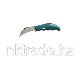 Нож садовода RACO складной, эргономичная рукоятка, нержавеющее лезвие, 175мм 4204-53/122B