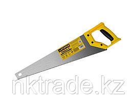 """Ножовка универсальная (пила) """"Тайга-7"""", 450мм,7TPI, закаленный зуб, рез вдоль и поперек волокон,"""