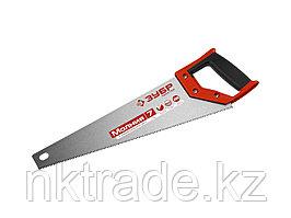 Ножовка универсальная (пила) ЗУБР МОЛНИЯ-7 400 мм, 7 TPI, закалка, рез вдоль и поперек волокон, для1537-40_z01