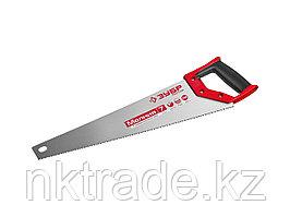Ножовка универсальная (пила) ЗУБР МОЛНИЯ-7 450 мм, 7 TPI, закалка, рез вдоль и поперек волокон, для1537-45_z01