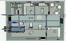 Модульный убойный цех 10 КРС/50 МРС в день, с холодильной камерой, фото 3