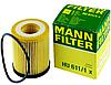 Масляный фильтр mann HU 611/1 x элемент