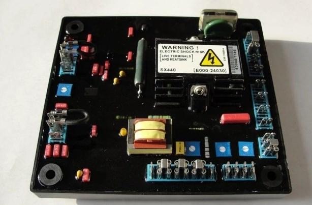 AC однофазный генератор avr схема SX440 AVR с красным конденсатором