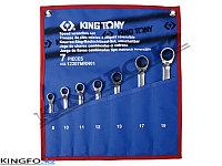 Набор комбинированных ключей с трещоткой 7 пр KING TONY 12207MRN01