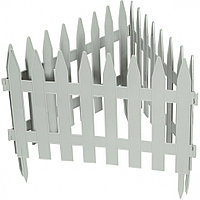 """Забор декоративный форма """"Рейка"""", 28 х 300 см, белый"""