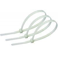 Хомут nylon 5.0 х 300 мм 100 шт белый  REXANT