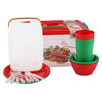 Набор для пикника на 4 персоны (контейнер 6.5л, 22 предмета)