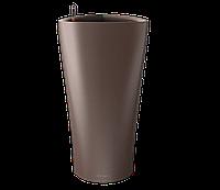 Вазоны настольные LECHUZA  DELTA15 - 15*15*H26cм кофейный металлик, фото 1