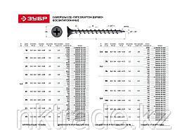 Саморезы фосфатированные с крупной резьбой, гипсокартон-дерево, PH2, 3,5 x 25 мм, 75 шт, ЗУБР Профессионал