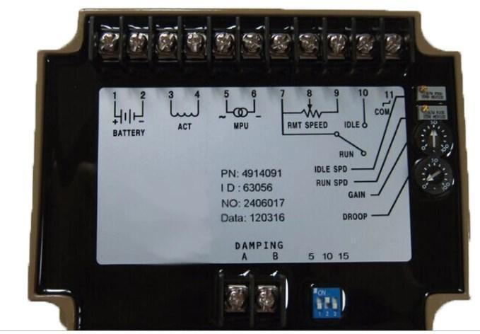 Электронный регулятор скорости вращения двигателя генератора панель управления 4914091, фото 2