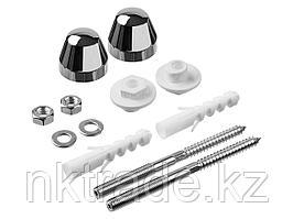 Набор ЗУБР для крепления раковин и писсуаров, диаметр предварительного сверления - 14 мм, цвет хром 44221