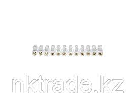 Колодки СВЕТОЗАР зажимные винтовые (КЗВ), макс. ток 6А, сечение подкл. проводов 6мм2 49150-06