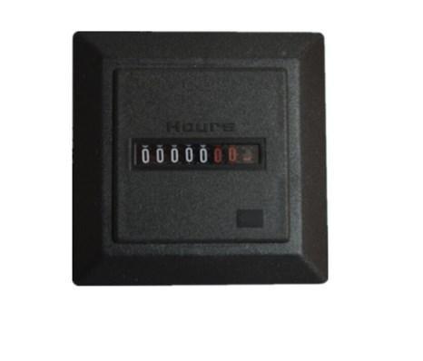 Квадратный черный Тип часового метра для дизельного генератора, фото 2