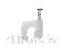 Скоба-держатель для круглого кабеля, с оцинкованным гвоздем, 6 мм, 100 шт, STAYER Master 4510-06