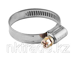 Хомуты, нерж. сталь, накатная лента 9 мм, 10-16 мм, 5 шт, ЗУБР Профессионал 3787-10-16