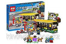 """Конструктор аналог Лего LEPIN 02078""""Автобусная остановка""""377 деталей аналогLEGO60154"""