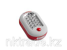 Фонарь светодиодный ЗУБР, 27 LED, магнит, крючок для подвеса, 3ААА Зубр 61810