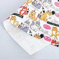 Бумага упаковочная крафтовая «Веселимся», 50 × 70 см, фото 1