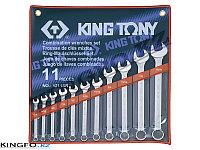 Набор дюймовых ключей 11 пр. KING TONY 1211SR