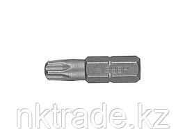 """Биты ЗУБР """"МАСТЕР"""" кованые, хромомолибденовая сталь, тип хвостовика C 1/4"""", T30, 25мм, 2шт 26005-30-25-2"""