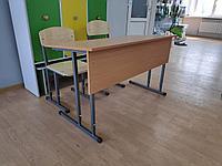 Комплект: двухместная парта и два стула на регулируемом каркасе