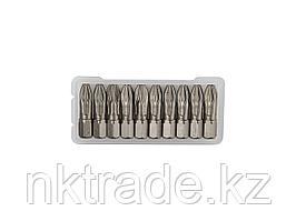 """Биты """"ЕХPERT"""" торсионные кованые, обточенные, KRAFTOOL 26123-3-25-10, Cr-Mo сталь, тип хвостовика C 1/4"""", PZ3, 25мм, 10шт"""
