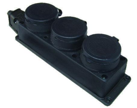 Колодка для розеток тройная 3х16А KONZA MK106