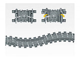 """Конструктор железная дорога """"Набор Рельсы 98215-2 Kazi - Гибкие и прямые пути аналог LEGO 7499, фото 3"""