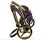 Детская коляска Adamex 3 в 1 Chantal вспененная резина С1, фото 7