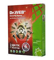 Dr.Web Security Space для 2х ПК + 2 моб.устр.на 1год + 1 мес.в подарок