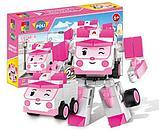 Конструктор WOMA  4 набора c0750-1-4 Robocar Poli Робокар Поли и его друзья 2 в 1 аналог Lego, фото 2