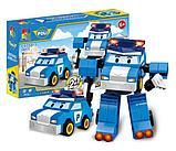 Конструктор WOMA  4 набора c0750-1-4 Robocar Poli Робокар Поли и его друзья 2 в 1 аналог Lego, фото 3