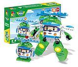Конструктор WOMA  4 набора c0750-1-4 Robocar Poli Робокар Поли и его друзья 2 в 1 аналог Lego, фото 4