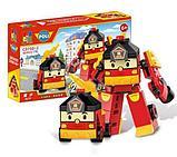 Конструктор WOMA  4 набора c0750-1-4 Robocar Poli Робокар Поли и его друзья 2 в 1 аналог Lego, фото 5