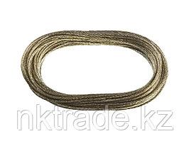 """Трос хозяйственный STAYER """"MASTER"""", стальной в полимерной оболочке, 20 метров, 3,0мм 50145-3"""