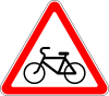 """1.22 """"Пересечение с велосипедной дорожкой или велопешеходной дорожкой""""."""