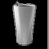 Вазоны настольные LECHUZA  DELTA15 - 15*15*H26cм серебристый металлик