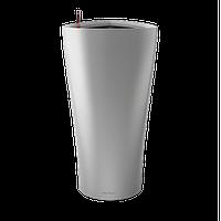 Вазоны настольные LECHUZA  DELTA15 - 15*15*H26cм серебристый металлик, фото 1