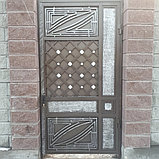 Откатные ворота с калиткой, фото 2