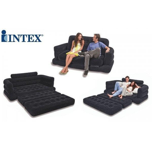 Надувной матрас Intex 68566 трансформер (231*193*71 см)